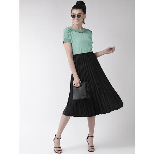 plusS Women Green Solid Top