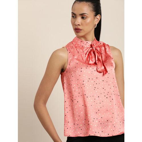 Moda Rapido Women Pink Printed Top