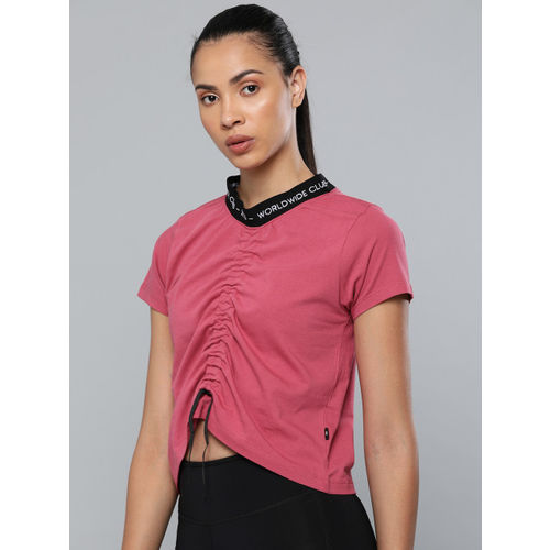 HRX by Hrithik Roshan Women Pink Solid Regular Fit Lifestyle Top