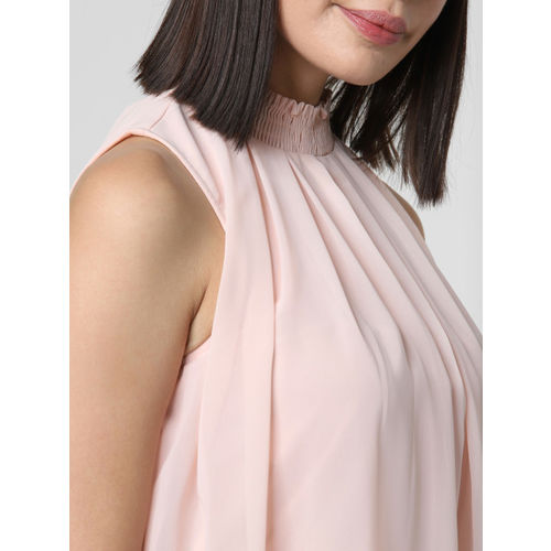 Vero Moda Women Pink Solid A-Line Top