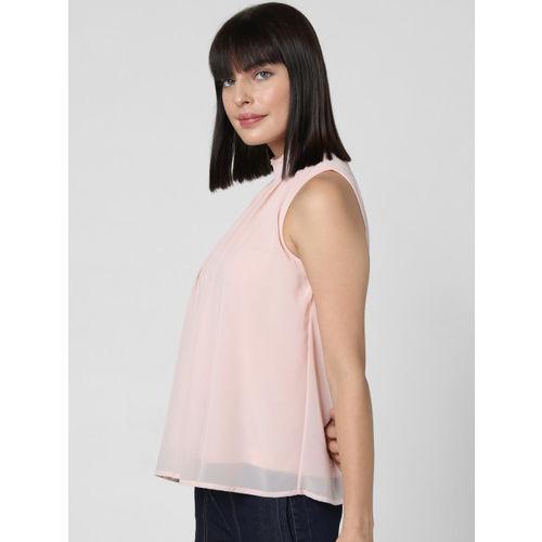 Vero Moda Women Pink Solid A-Line Top