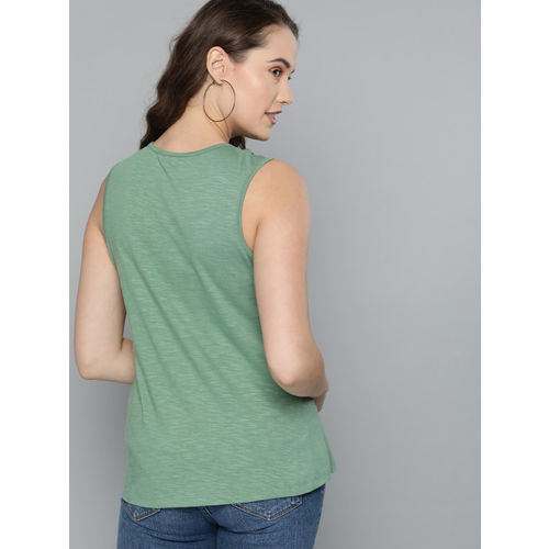 Mast & Harbour Women Green Solid Top