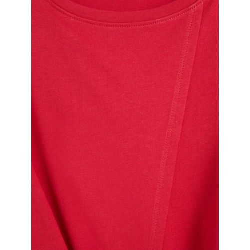 MANGO Women Red Solid Wrap Top