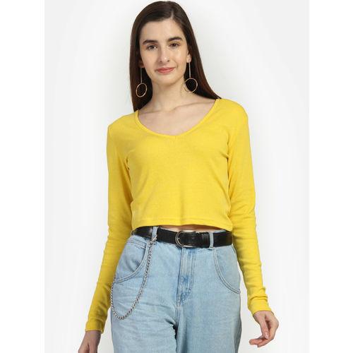 Yaadleen Women Yellow Solid Top