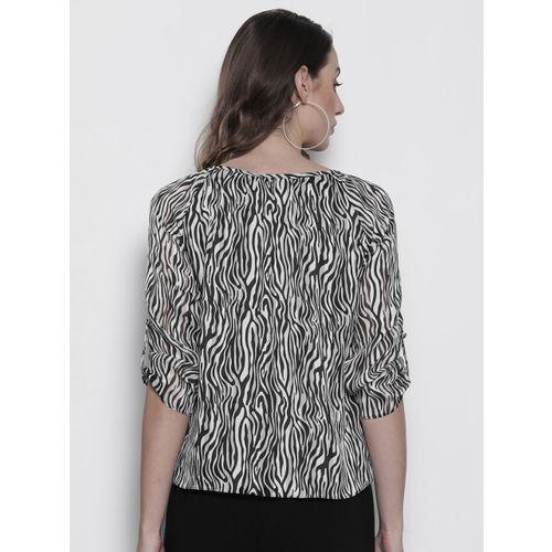 DOROTHY PERKINS Women Black & White Printed Top
