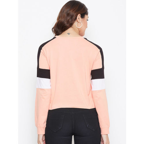 The Dry State Women Pink Solid Round Neck T-shirt