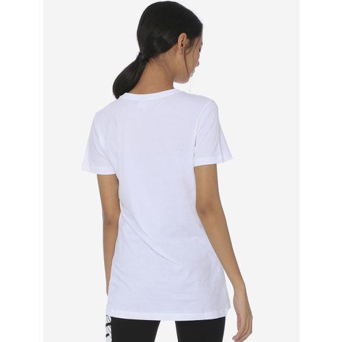 Puma Women White Printed Round Neck T-shirt