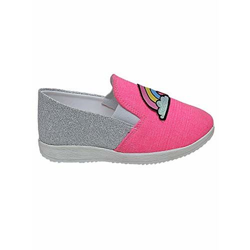 D'chica Sparkly Feet Rainbow Loafers for Girls