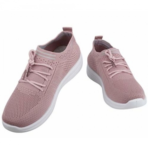 IRSOE Girls Latest Comfortable and Lightweight Casual Shoes (Peach)