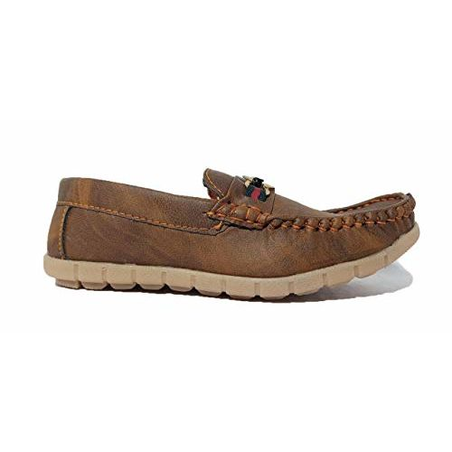 FOOTONREST Boys Latest Brown Color Outdoor Formal Casual Ethnic Daily Use Kids Loafers Shoes 3 Year to 8 Years Kids