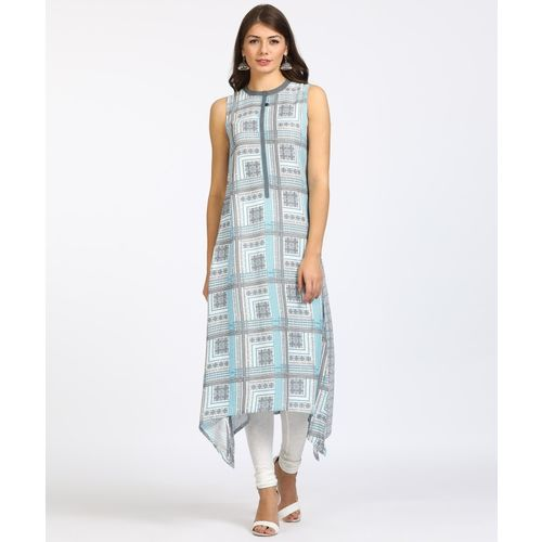 Aurelia Women Printed Trail Cut Kurta(Multicolor)