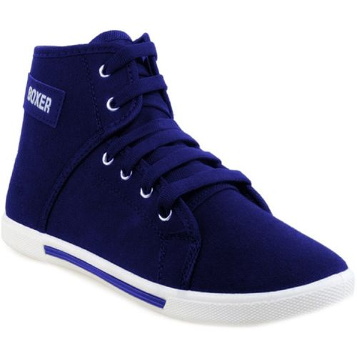Hotstyle Blue Canvas High Ankle Casual Shoes For Men