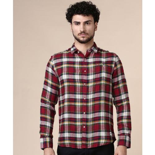 Flying Machine Men Checkered Casual Multicolor Shirt