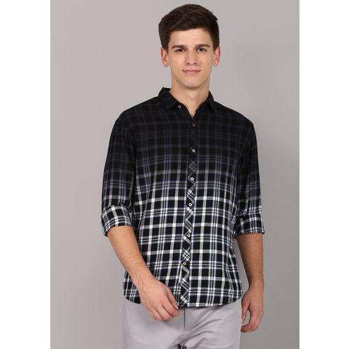 Rodid Men Checkered Casual Black Shirt