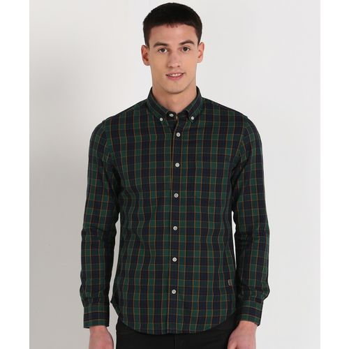 Peter England Men Checkered Casual Multicolor Shirt
