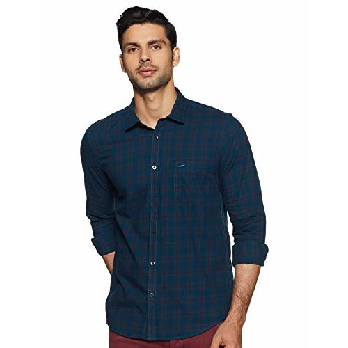 Crocodile Men's Checkered Slim fit Casual Shirt