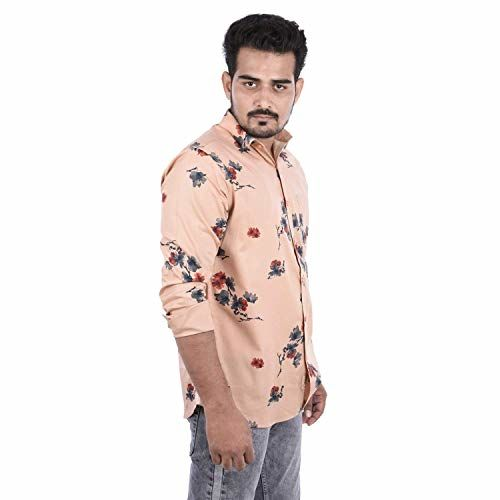 DANISH Casual Shirt for Mens | Full Sleeves Formal Slim Fit Printed Office Shirts for Men | Cotton, All Color & Size (Pack of 1)