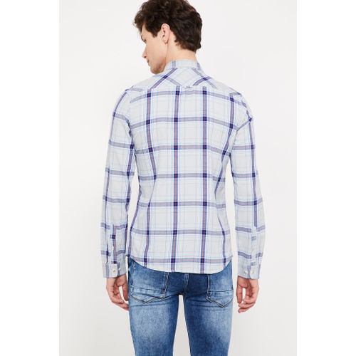 FORCA Checked Slim Fit Full Sleeves Shirt