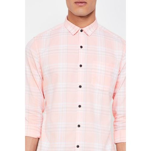 FORCA Checked Full Sleeves Slim Fit Shirt