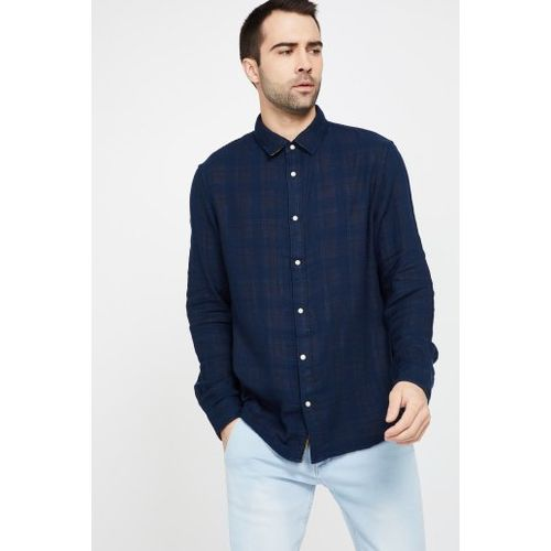 CELIO Checked Regular Fit Reversible Casual Shirt