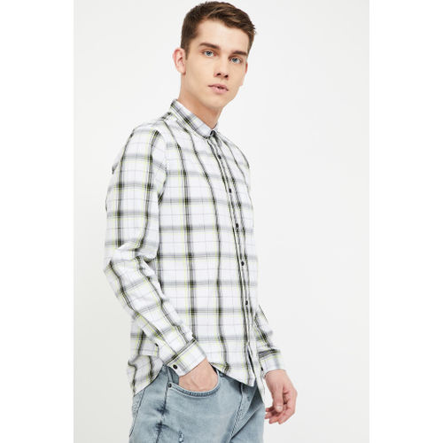 FORCA Checked Slim Fit Casual Shirt