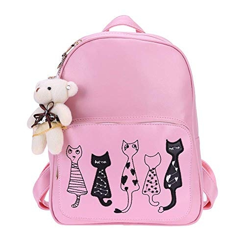 Alice Fashion 3-PCS Cute Mini Leather Backpack sling & pouch set for Women