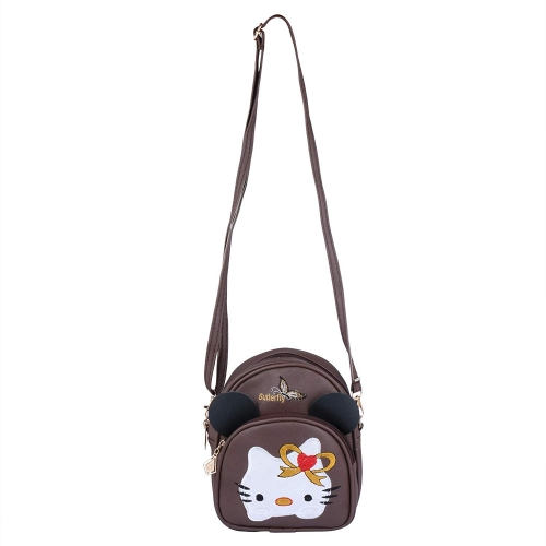 RITUPAL COLLECTION Brown PU Small Backpack cum Sling Bag