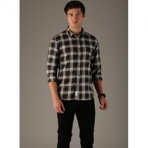 Van Heusen Black & White Checks Shirt