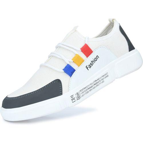 Sklodge Tiranga Sneakers For Men(White)