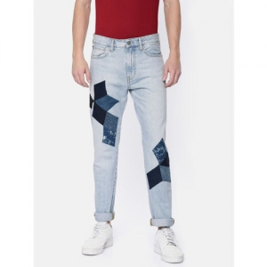 Calvin Klein Jeans Performance Men Blue Slim Fit Mid-Rise Clean Look Jeans