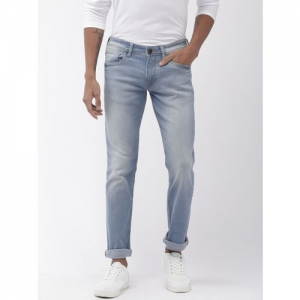 Park Avenue Men Blue Mod Fit Mid-Rise Clean Look Stretchable Jeans