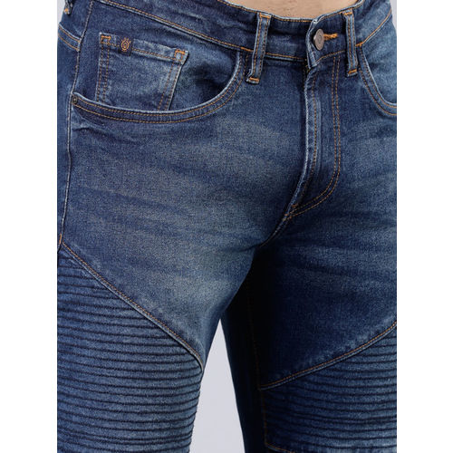 LOCOMOTIVE Men Blue Tapered Fit Mid-Rise Clean Look Stretchable Jeans