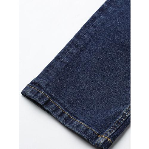 Roadster Men Navy Blue Super Skinny Fit Mid-Rise Mildly Distressed Stretchable Jeans