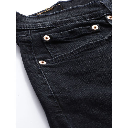 Levis Men Blue Slim Straight Fit Mid-Rise Clean Look Stretchable Jeans 513
