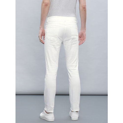 ether Men White Skinny Fit Jeans
