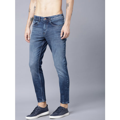 LOCOMOTIVE Men Navy Blue Tapered Fit Mid-Rise Clean Look Stretchable Jeans