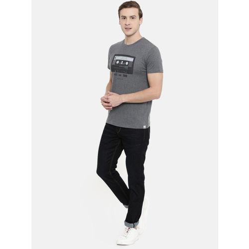 Lee Men Navy Blue Anton Slim Fit Mid-Rise Clean Look Stretchable Jeans
