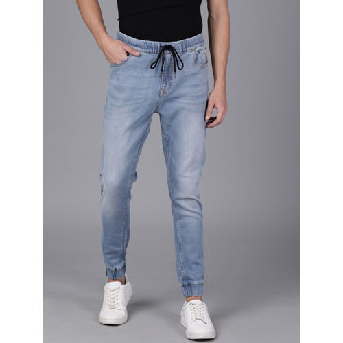WROGN Men Blue Jogger Mid-Rise Clean Look Jeans