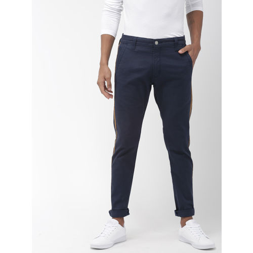 Denizen From Levis Men Navy Blue 286 Slim Tapered Fit Clean Look Stretchable Jeans