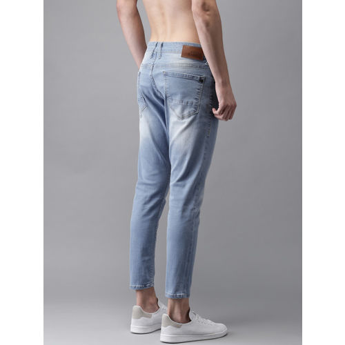 Moda Rapido Men Blue Regular Fit Cropped Mid-Rise Clean Look Stretchable Jeans