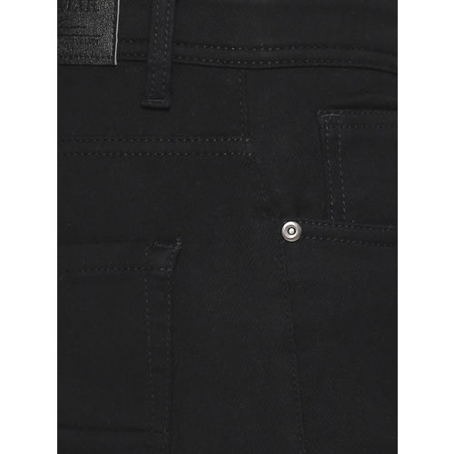 High Star Men Black Slim Fit Mid-Rise Clean Look Stretchable Jeans