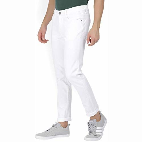 FunTree Trendy White Color Jeans for Men