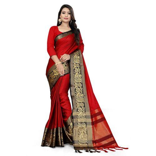 SURTI FUNDA Woven Bollywood Jacquard, Art Silk, Cotton Silk Saree(Multicolor)