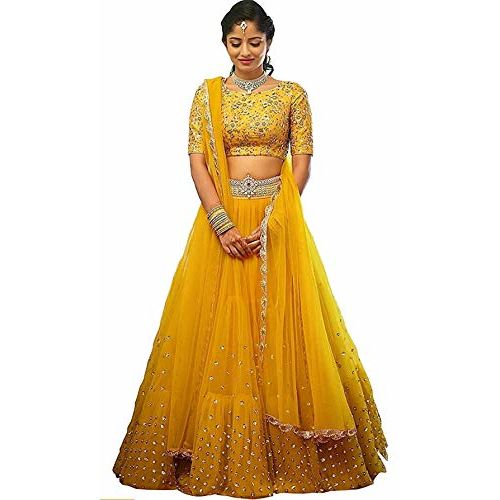 Nilkanth Fashion Hub Nilkanth faishion hub yellow colourful lehenga choli