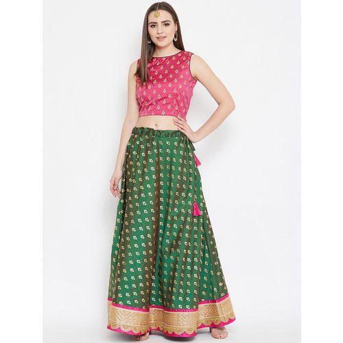 Bollywood Vogue Grey Net Layered Made to Measure Lehenga & Choli Set
