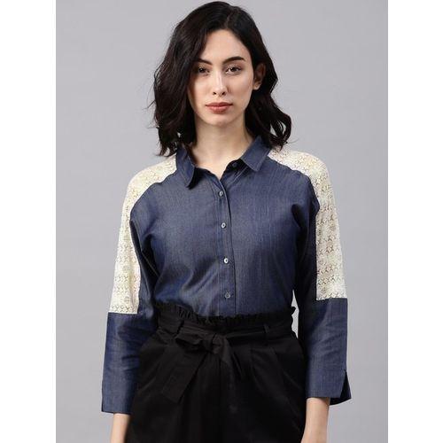 NUSH Blue Lace Shirt