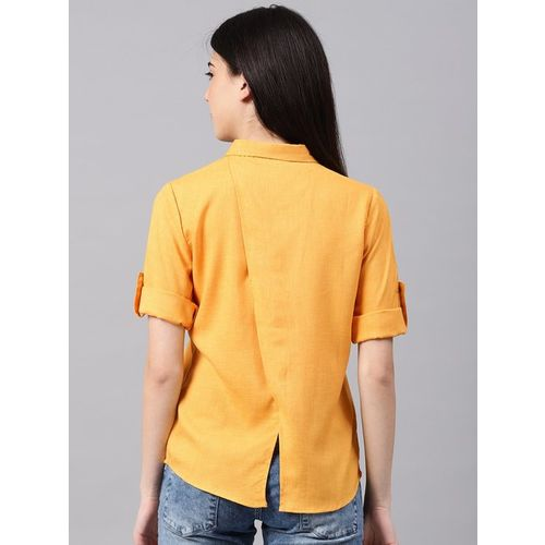NUSH Yellow Textured Shirt