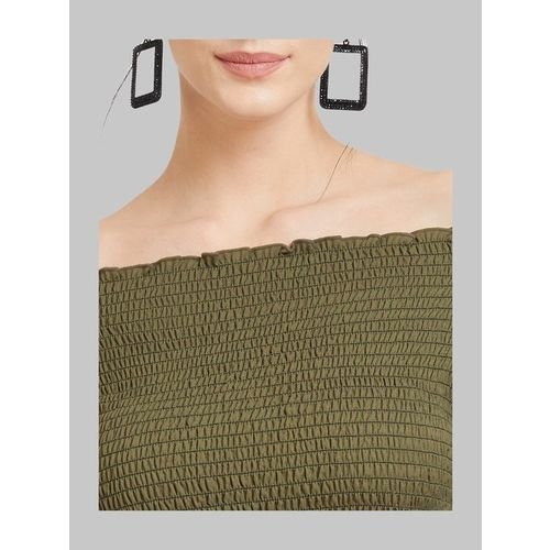 Kazo Olive Textured Top