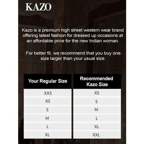 Kazo Black Regular Fit Top