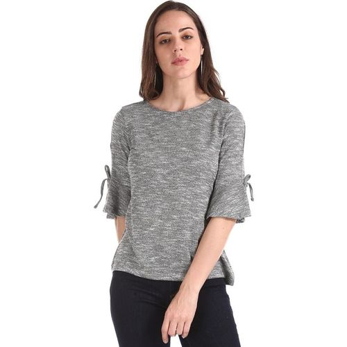 Cherokee by Unlimited Grey Textured Top